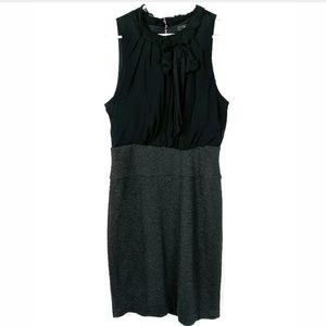 BCBGMaxazria Ruffled Tie Neck Sleeveless Dress